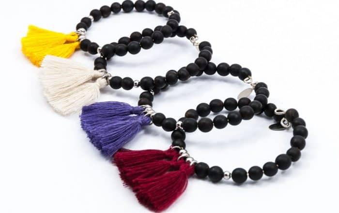 Bracelets en graines de Toloman (Canna). Art Sens