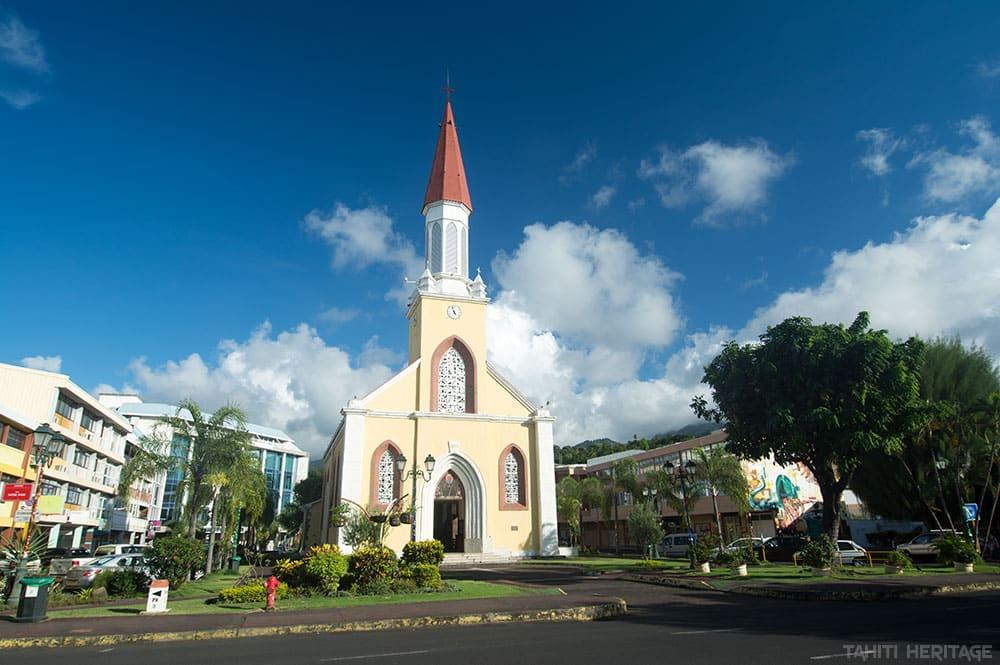 La cathédrale Notre-Dame de Papeete, Tahiti en 2015 © Tahiti Heritage