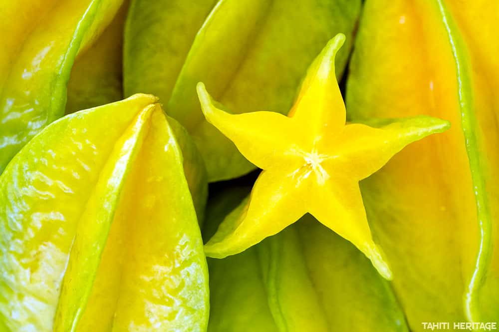 Carambole de Tahiti, Star fruit, Averrhoa carambola © Tahiti Heritage